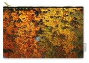 Fall Textures In Water Carry-all Pouch by LeeAnn McLaneGoetz McLaneGoetzStudioLLCcom