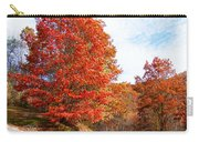 Fall Tree By The Road Carry-all Pouch