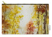 Fall Tree In Autumn Forest  Carry-all Pouch