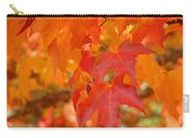 Fall Tree Leaves Art Prints Orange Red Autumn Carry-all Pouch
