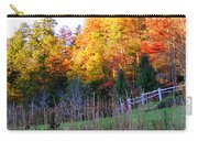 Fall Trees And Fence Carry-all Pouch