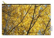 Fall Trees Art Prints Yellow Autumn Leaves Carry-all Pouch