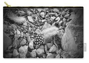 Fallen Feathers Black And White Carry-all Pouch
