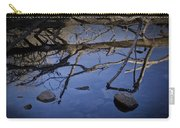 Fallen Tree Trunk With Reflections On The Muskegon Rive Carry-all Pouch