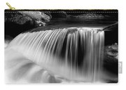 Falling Water Black And White Carry-all Pouch