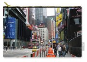 Amidst Color And Construction In Times Square Carry-all Pouch