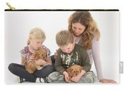 Family With Cockerpoo Pups Carry-all Pouch