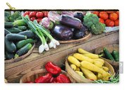 Farmers Market Summer Bounty Carry-all Pouch by Kristin Elmquist