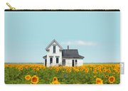 Farmhouse In A Field Of Sunflowers Carry-all Pouch