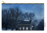 Farmhouse Under Full Moon In Winter Carry-all Pouch