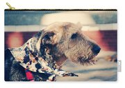 Airedale On The Fashion Runway Carry-all Pouch