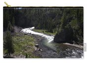 Fast Rapids On Firehole River Yellowstone  Carry-all Pouch
