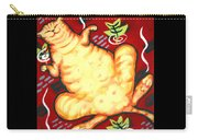 Fat Cat On A Cushion - Orange Cat Carry-all Pouch