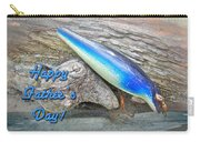 Fathers Day Greeting Card - Vintage Floyd Roman Nike Fishing Lure Carry-all Pouch