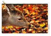 Fawn In Autumn Carry-all Pouch