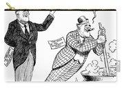 F.d. Roosevelt Cartoon Carry-all Pouch