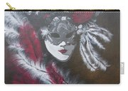 Feathered Rose Carry-all Pouch