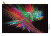 Feathery Bouquet On Black - Abstract Art Carry-all Pouch