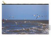 Feed Us - Ferry To Galveston Tx Carry-all Pouch by Susanne Van Hulst