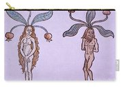 Female And Male Mandrake, Alchemy Plant Carry-all Pouch