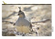 Female Gambel's Quail  Carry-all Pouch