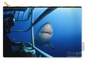 Female Great White And Underwater Carry-all Pouch