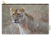 Female Lion Portrait Carry-all Pouch