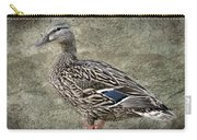Female Mallard Duck Low Saturation Carry-all Pouch