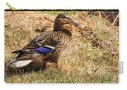 Female Mallard On A River Bank In Alaska Carry-all Pouch