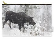 Female Moose In Snowy Forest, Gaspesie Carry-all Pouch