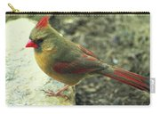 Female Northern Cardinal Carry-all Pouch