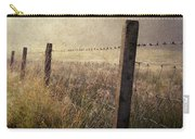 Fence And Field. Trossachs National Park. Scotland Carry-all Pouch