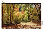 Fenced Path Through Autumn Forest - Blacksmith Fork Canyon - Utah Carry-all Pouch
