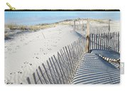 Fences Shadows And Sand Dunes Carry-all Pouch