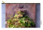 Fern In Antique Wall Planter Carry-all Pouch
