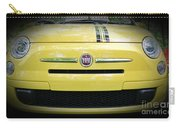 Fiat 500 Yellow With Racing Stripe Carry-all Pouch