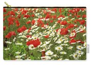 Field Of Daisies And Poppies. Carry-all Pouch