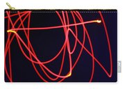Fiery Red Light Strings Carry-all Pouch