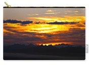 Fiery Sunrise Over The Cascade Mountains Carry-all Pouch
