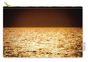 Fiery Sunset Over The Sea Carry-all Pouch