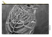 Finch Black And White Carry-all Pouch