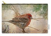 Finch Greeting Card With Verse Carry-all Pouch