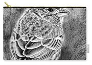 Finch Grungy Black And White Carry-all Pouch