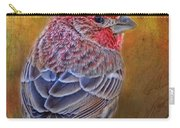 Finch With Gold Texture Carry-all Pouch