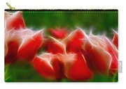 Fire And Ice Fractal Panel 2 Carry-all Pouch
