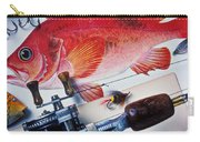 Fish Bookplates And Tackle Carry-all Pouch