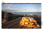 Fish 'n' Chips By The Beach Carry-all Pouch by Rob Hawkins