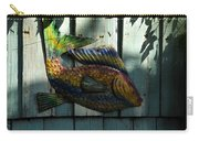 Fish On Fence Carry-all Pouch