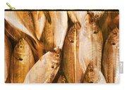 Fish Pattern On Wood Carry-all Pouch by Setsiri Silapasuwanchai