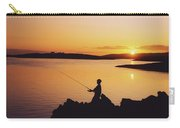 Fishing At Sunset, Roaring Water Bay Carry-all Pouch